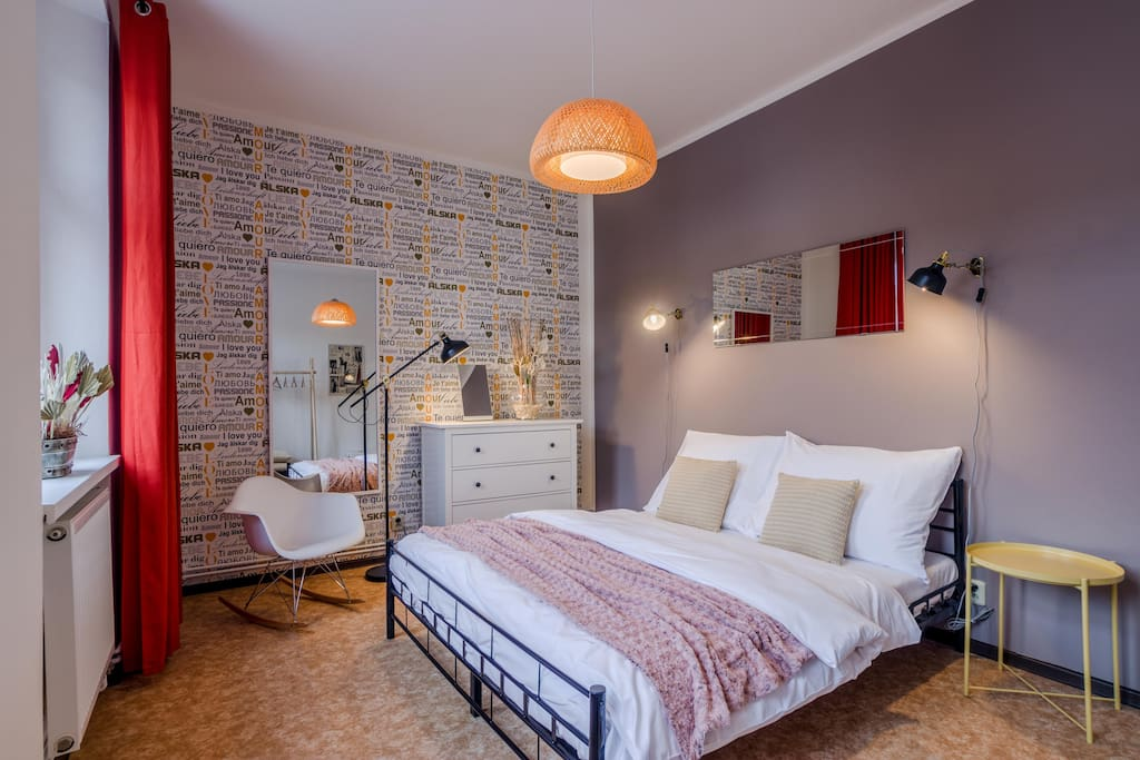 Welcome to our stylish and extra cosy bedroom. It´s the most important to feel comfortable in bedroom, right?