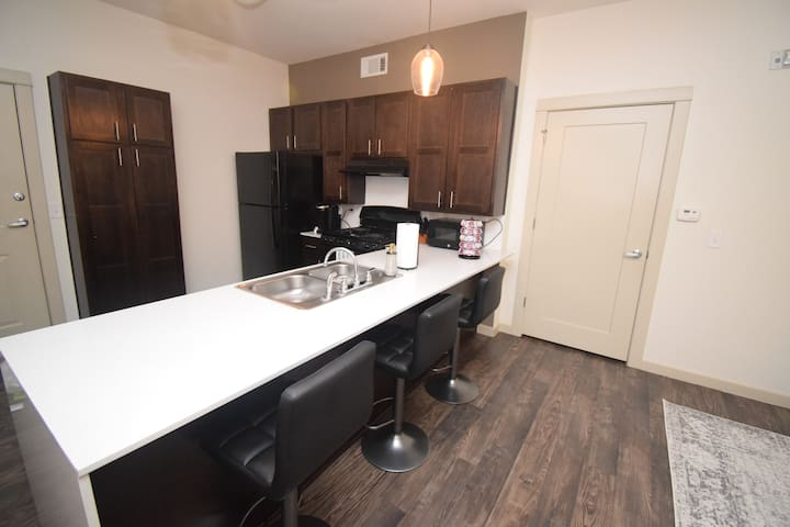 Come home to a home cooked meal by using our fully stocked kitchen.