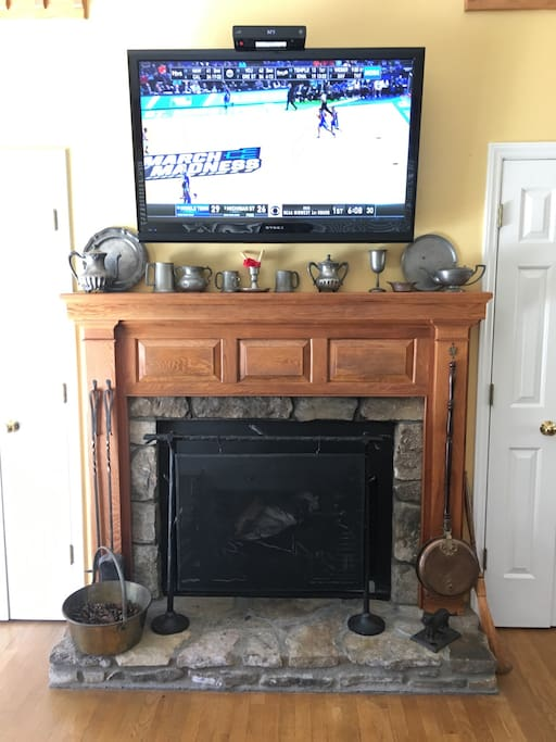 Warm Hearth with Large HDMI Flat Screen TV, Has 200 Channel Satellite