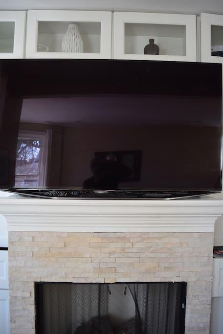 HDTV over Fireplace