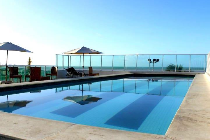 Apt. 1 quarto,  Beira-mar no melhor de Cabo Branco