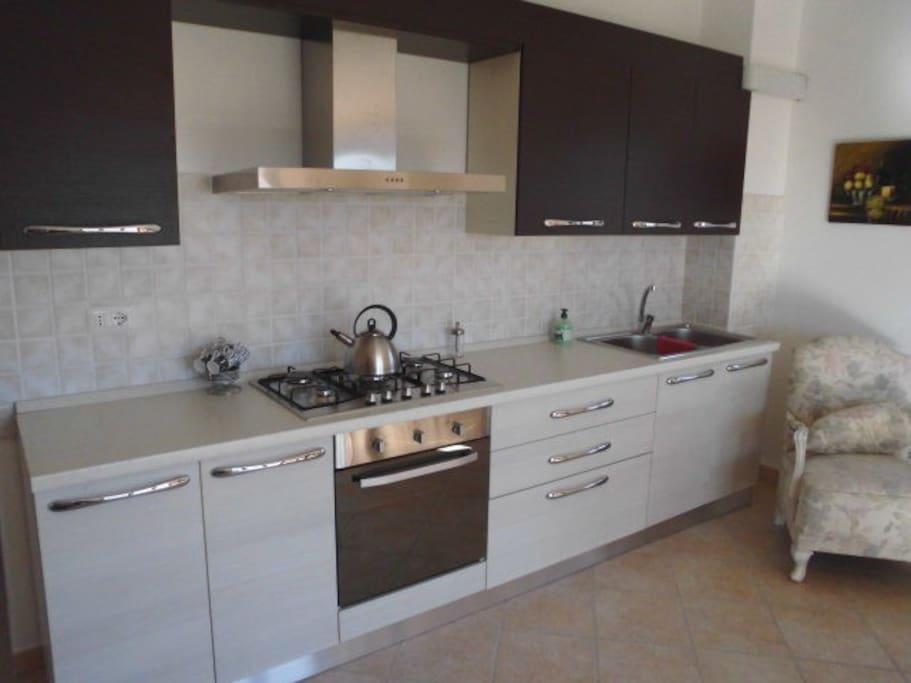 De keuken van Casa Aquila