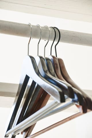Hangers under the stairs in your room
