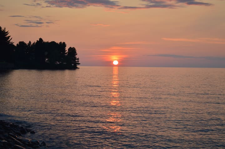 Lake Ontario, Sodus, Rock beach, Great views!