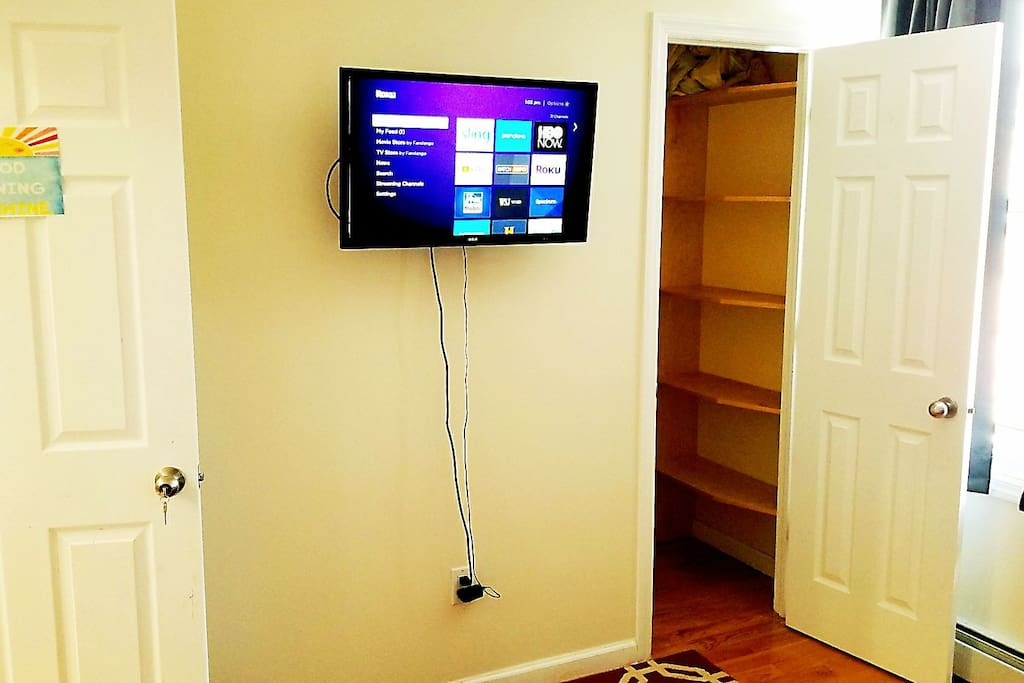 TV with Netflix and Spectrum