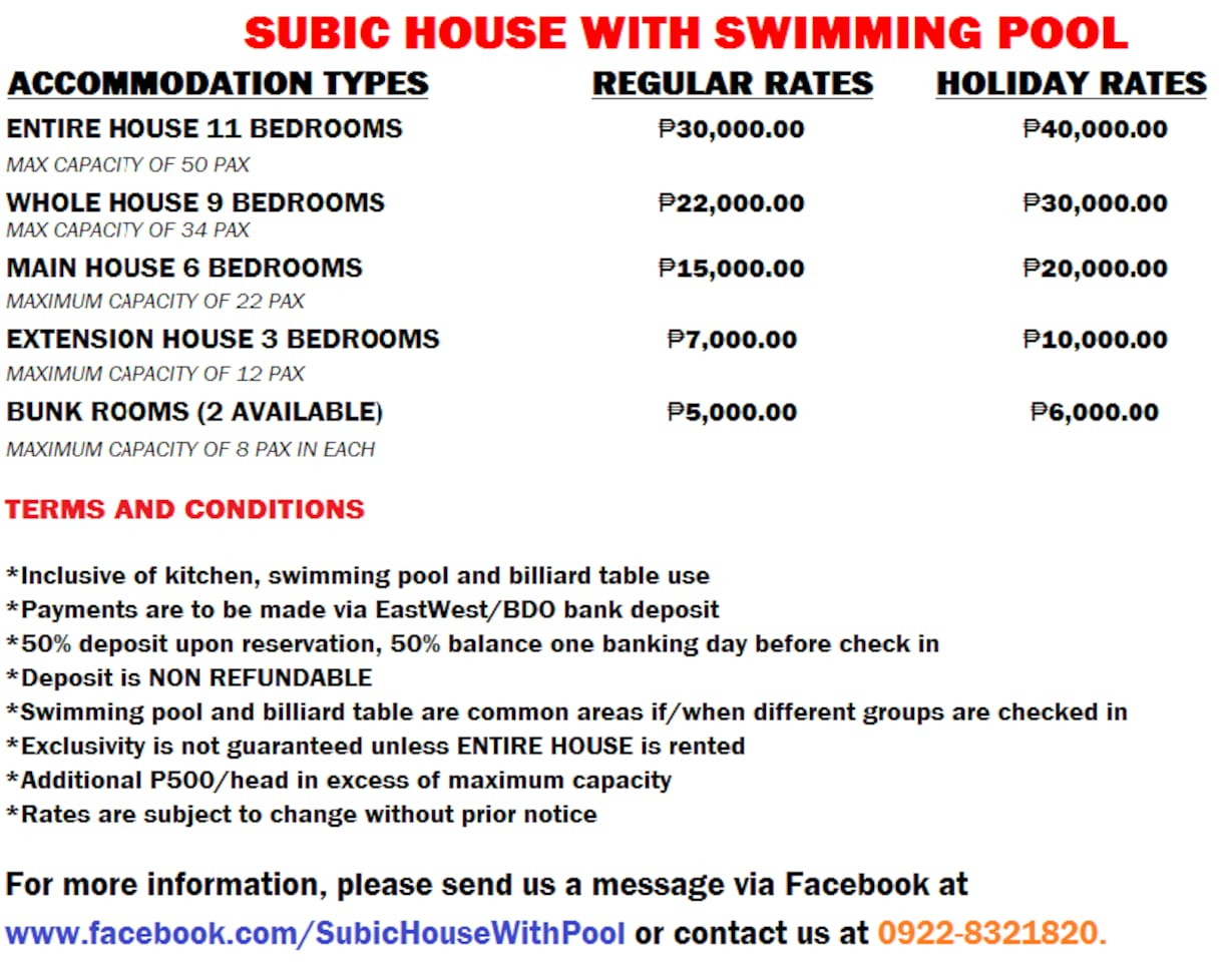 Crib for sale in olongapo - Subic House With Pool For Rent Houses For Rent In Olongapo Central Luzon Philippines