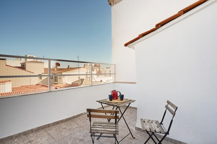 I. Loft RETIRO w/ BIG TERRACE perfect 4 COUPLES