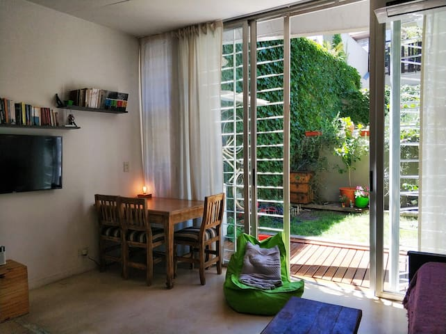 Apt with garden in middle of Palermo/Colegiales