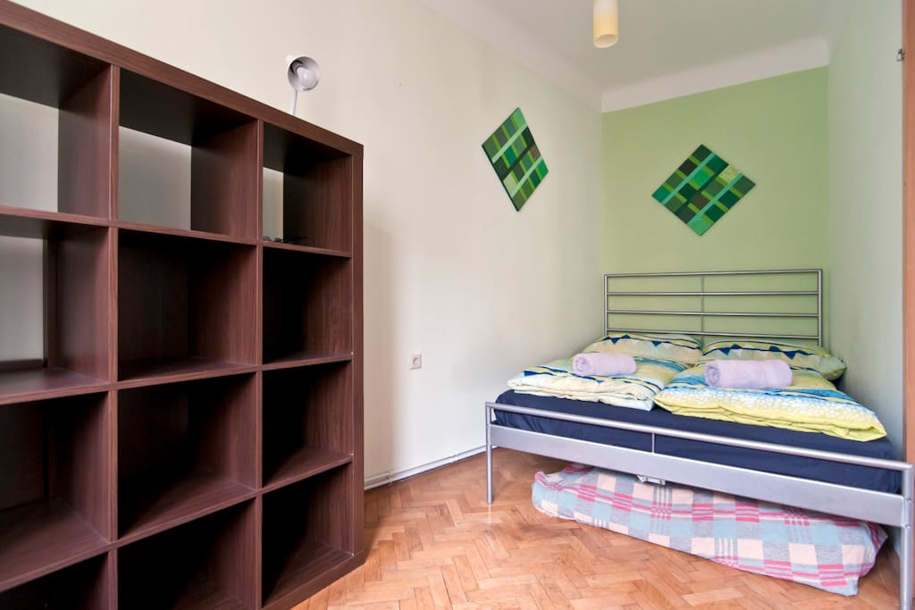 Separate bedroom with very comfortable queen size bed