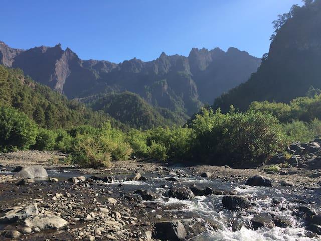 "Ladscapes of the National Park of ""La Caldera de Taburiente"""