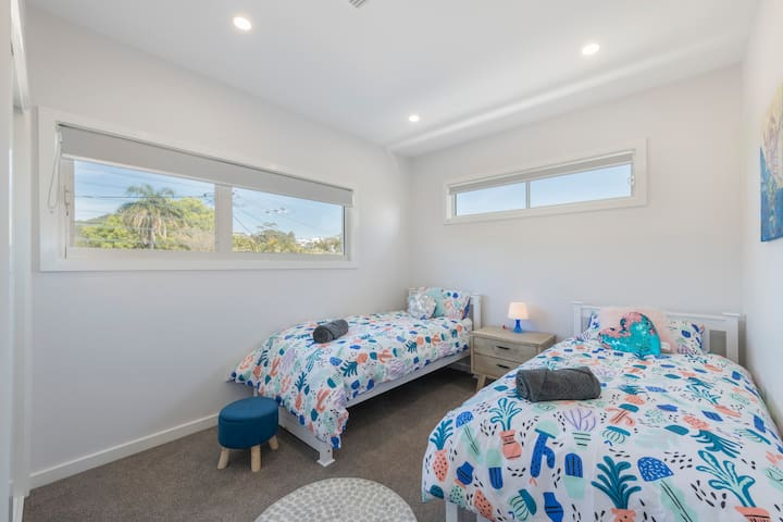 The third bedroom has two single beds in it, just perfect for singles or the little ones. With built in wardrobe and plenty of natural light, you will find sleeping a breeze.