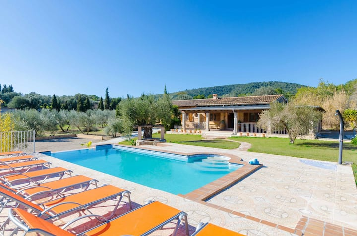 YourHouse Ses Comes - villa with private pool in the Tramuntana mountains