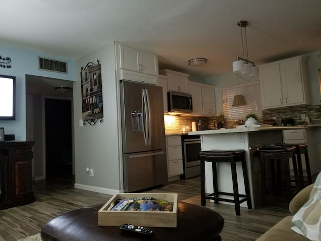 living room to kitchen