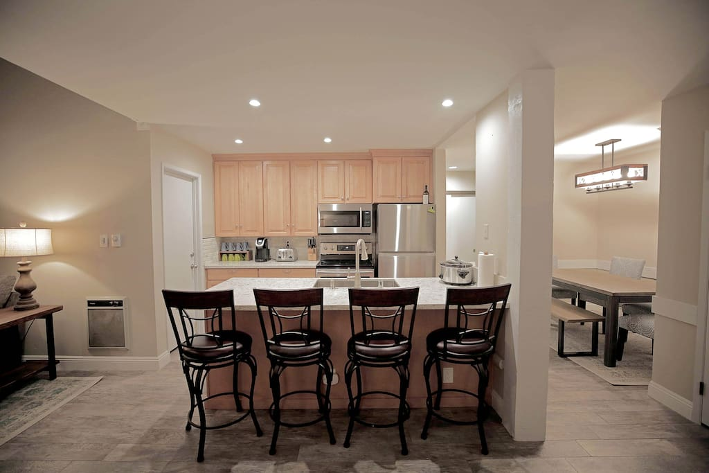 Kitchen with Countertop Seating