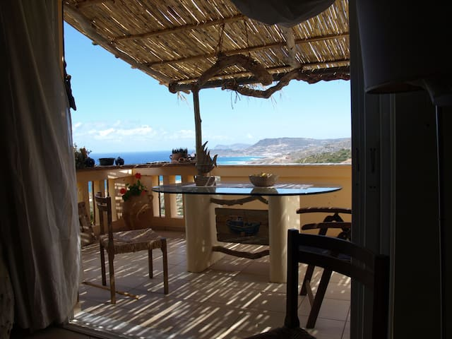 Seaview apt close to Vai and trekking ham4DX - Agia Fotia - Apartment