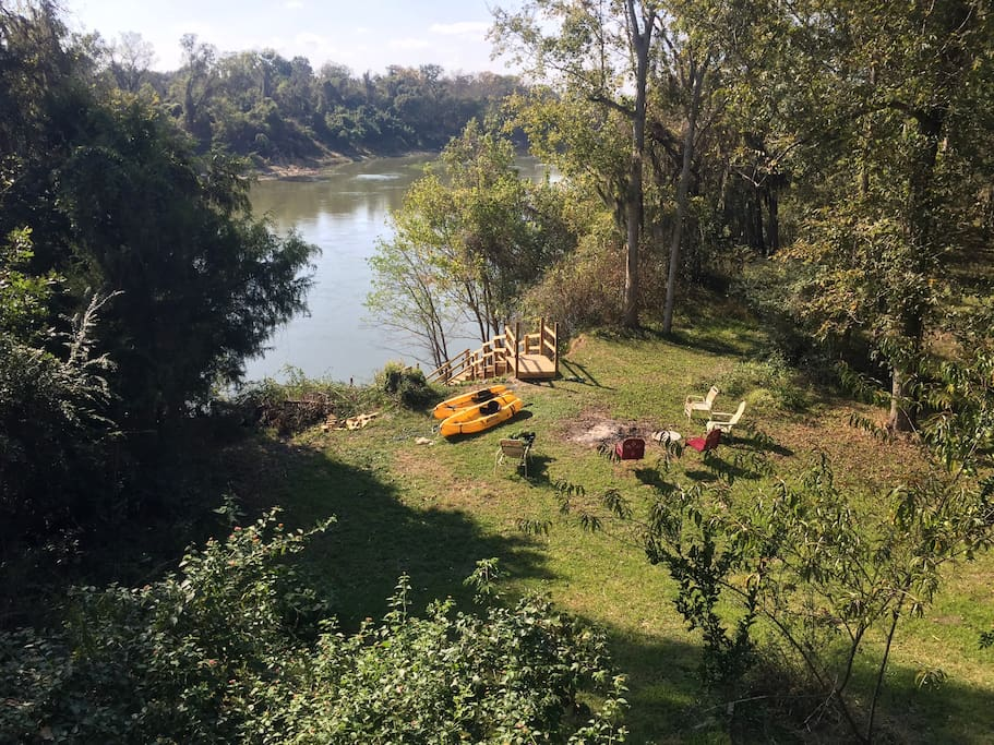 View of river from deck of new house