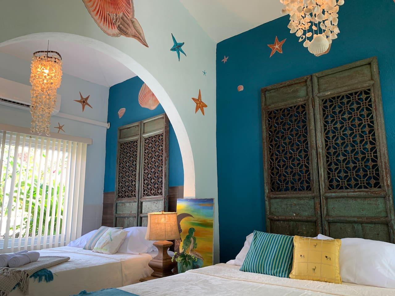 Nuestra sencilla pero Imponente vista de nuestra suite La Perla esperándote para disfrutar de este paradisiaco lugar