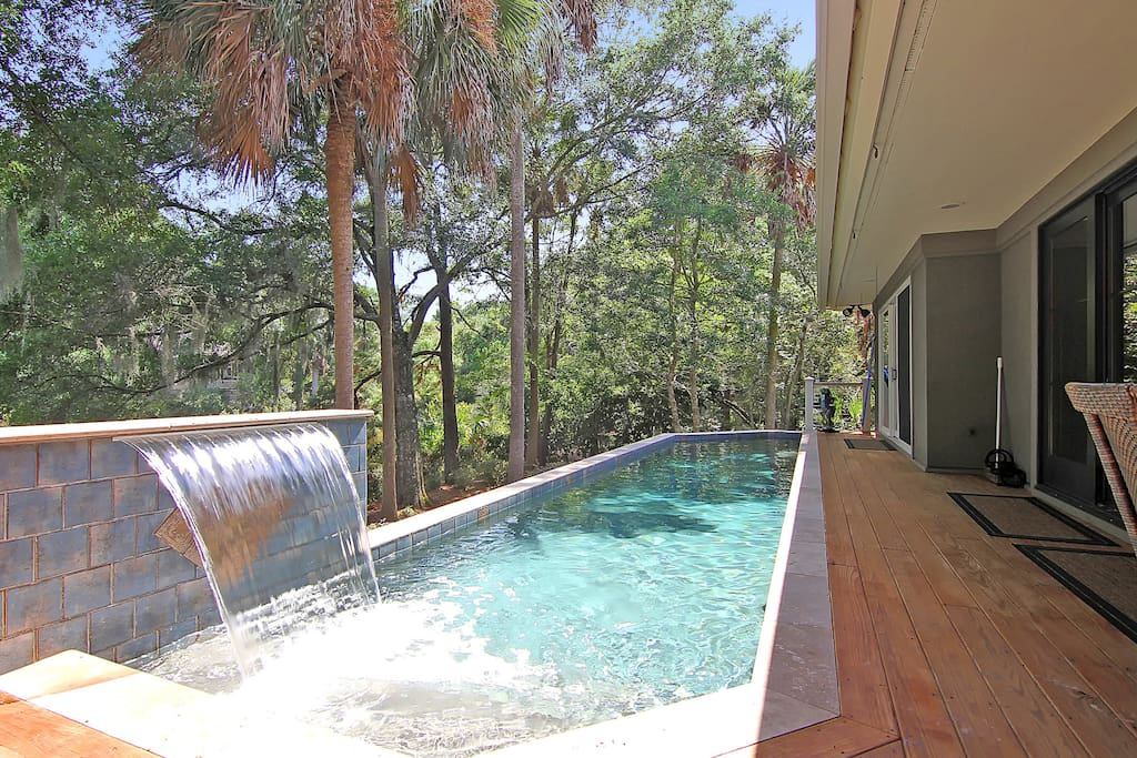 Private Pool Waterfall
