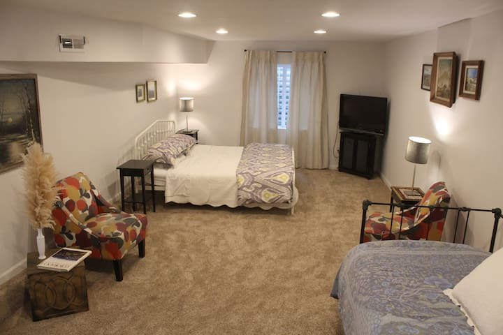 Private Basement with Best of Denver & Mountains