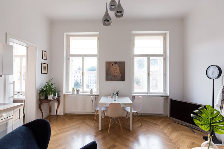 Sunny apartment in the center of Prague