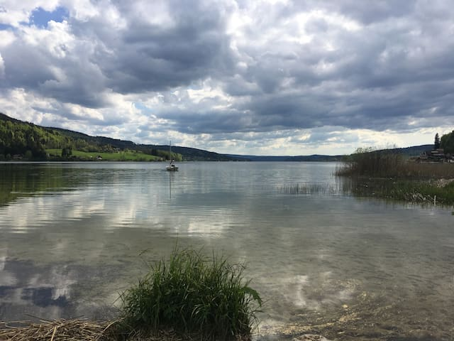 Le lac à 400 mètres