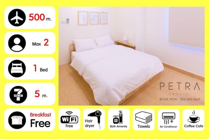 #1 New! 5 min to DMK @PETRA POSHTEL(Private room)