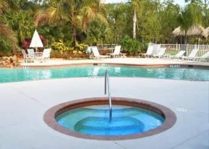 NAPLES, FL.  LELY RESORT Pool, 2bd/2ba