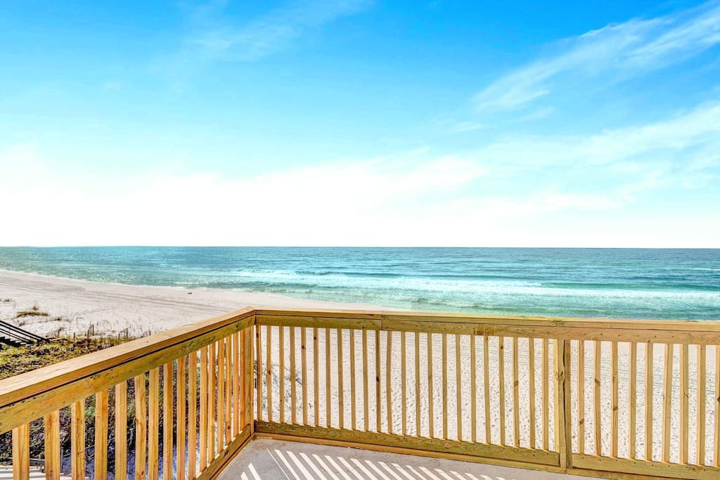 Start your day mere steps from the beach