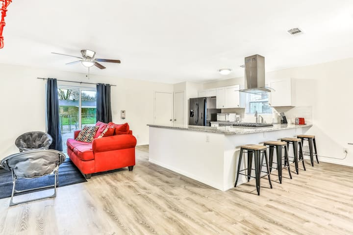 Newly-remodeled, dog-friendly home w/ a spacious patio, foosball table, & yard