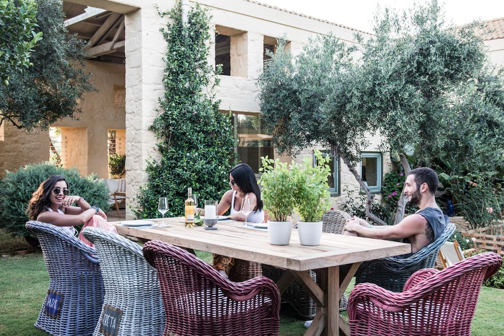 Garden ,  second outdoor dining area .....
