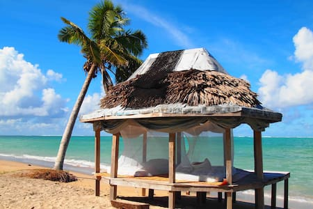 Vaiula Beach Fales Open Fale for two persons.