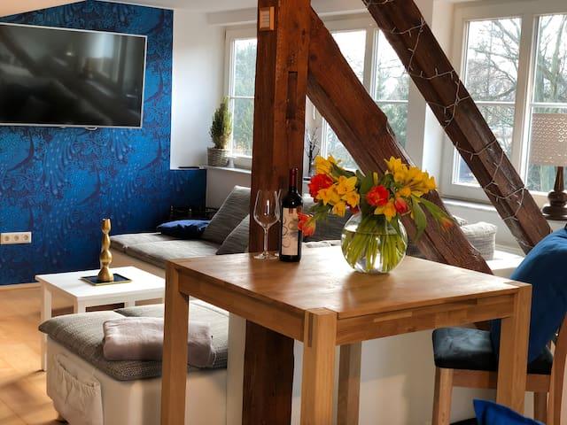 Das Gemütliche Apartment Mit Singleküche Foto Van Pension
