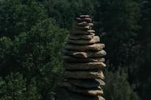 Zen rock formation compliments of a guest. Was it you?