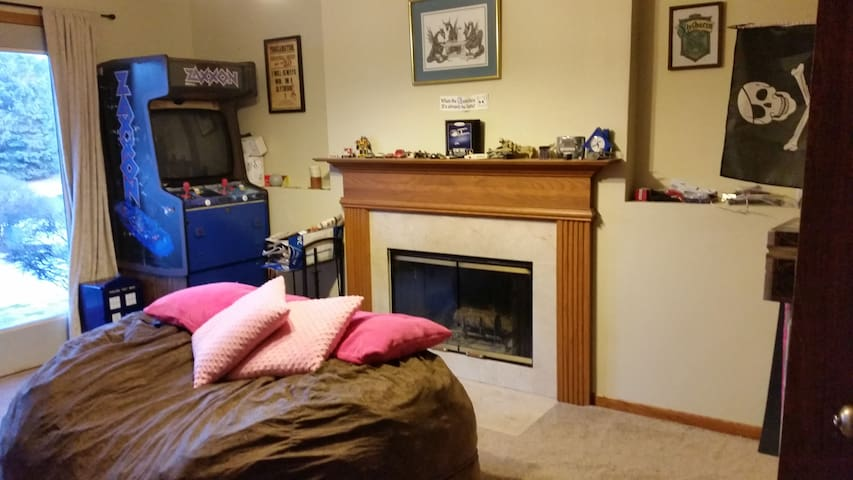 Lower Level Geeky Suite! - Eagan - Huis