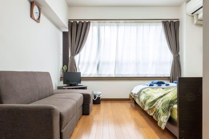 401 cozy room near Tenjin with free wifi