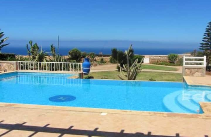 Villa with 4 bedrooms in Mirleft, with wonderful sea view, private pool, enclosed garden - 700 m from the beach
