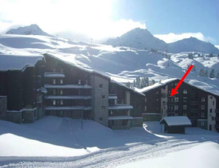 Studio Skis aux pieds  pour 4/5 personnes de 27 m²