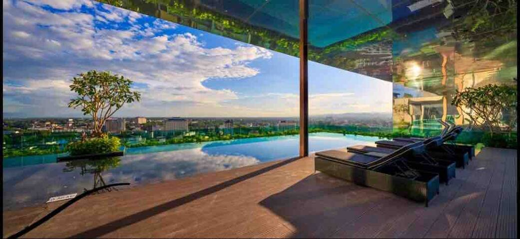 Great Locationt :New 2Bedrooms古城长康夜市 Infinity pool
