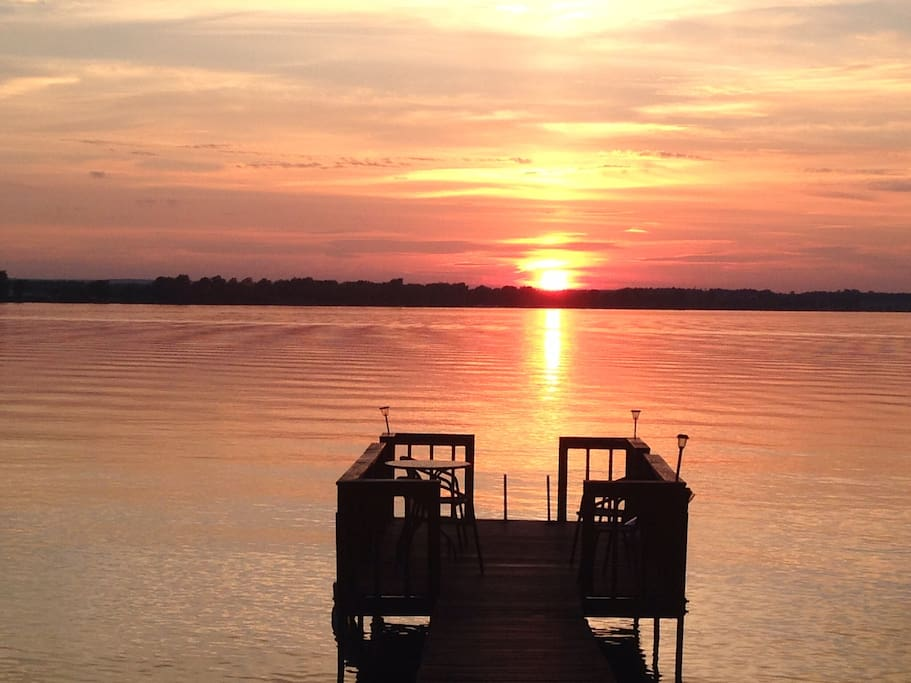 This is the sunset from our dock