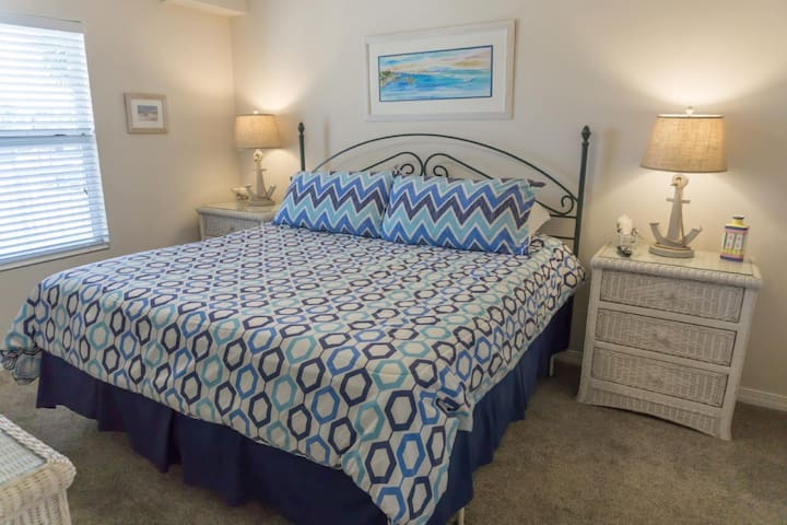 Sleep Late in the Comfy King Bed in the Master Bedroom