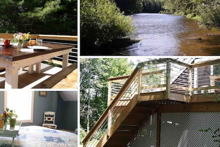 Private new apartment on the Battenkill River!