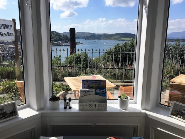 Oban,single room,shared bathroom,no sea view.