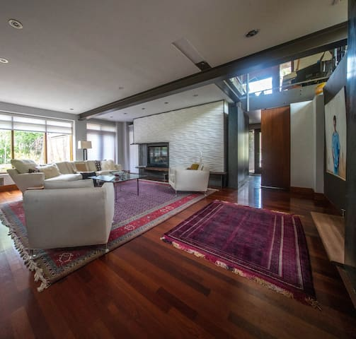 Modern,  warm architect's home