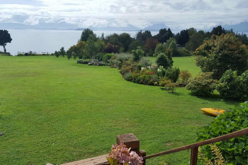 Vista del jardin