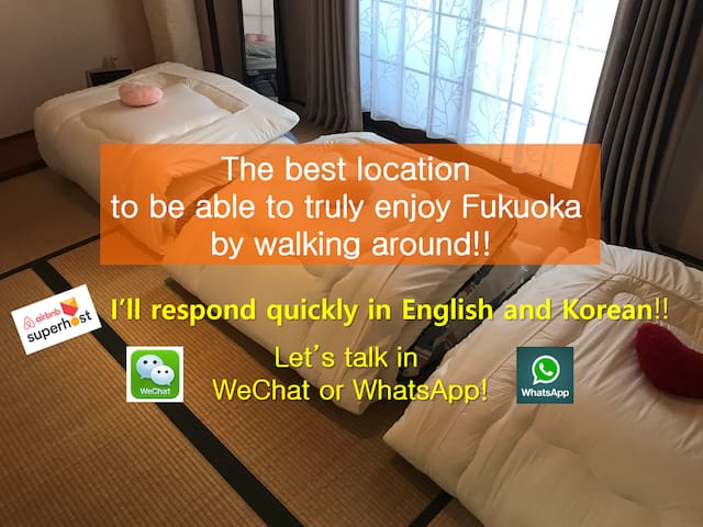 Best location  to be able to truly enjoy Fukuoka!!
