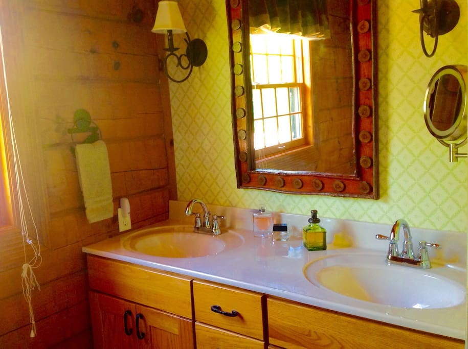 Private bath with double vanity