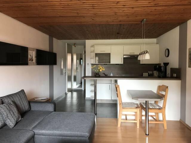 Haus Schwarzwaldgrund, (Baiersbronn), Fewo Typ 2a, 1 Schlafraum, 1 Wohn-Schlafraum, max. 2 Erwachsene und 1 Kind