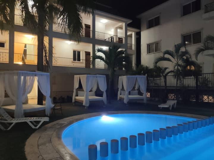 Apartamento 2 habitaciones y 2 baños vista piscina