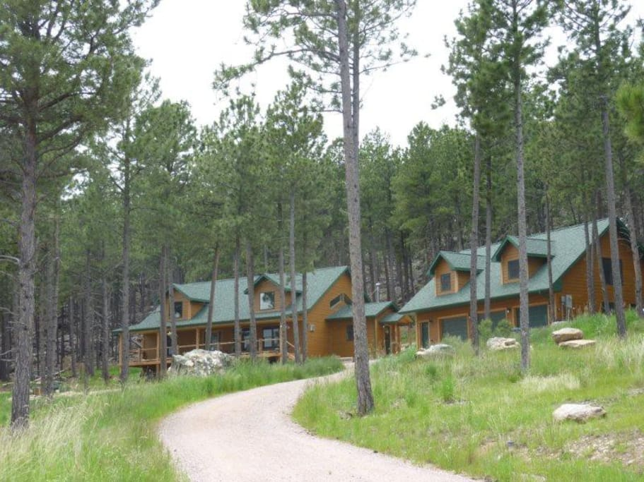 Laramie bluffs mountain getaway cabins for rent in for Cabins near custer sd