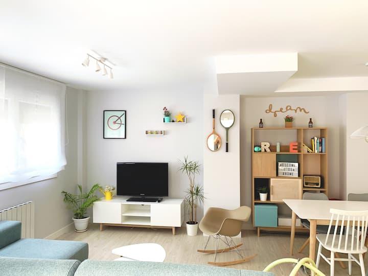 Casa-Duplex S.Francisco:amplia,céntrica y luminosa